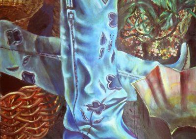 Gli stivali - Oil on Canvas