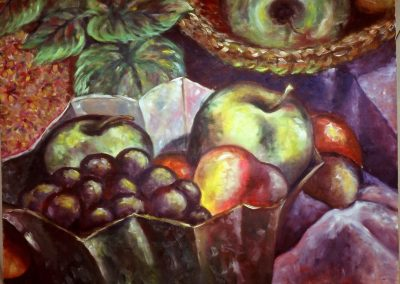Still life with grapes - Oil on Canvas